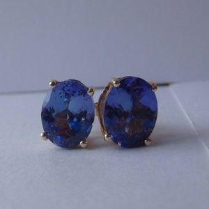 Tanzanite & 14k Gold Earrings